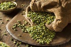 Raw Organic Green Split Peas Royalty Free Stock Photography