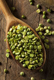 Raw Organic Green Split Peas Stock Photo
