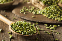 Raw Organic Green Split Peas Stock Images