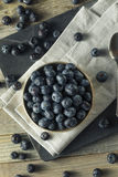 Raw Organic Healthy Blueberries. In a Bowl Stock Photography