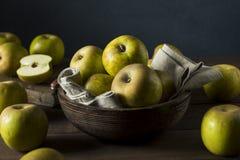 Raw Organic Heirloom Golden Russet Apples Stock Photos
