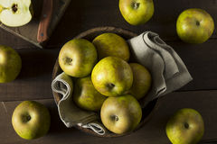 Raw Organic Heirloom Golden Russet Apples Royalty Free Stock Photography