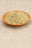 Raw organic hemp protein powder Royalty Free Stock Photos