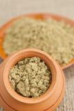 Raw organic hemp protein powder Stock Images