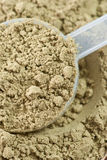 Raw organic hemp protein powder Royalty Free Stock Image
