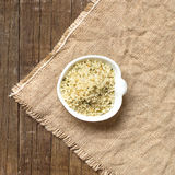 Raw Organic hemp seeds  in a bowl Royalty Free Stock Image