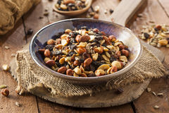 Raw Organic Homemade Trail Mix Royalty Free Stock Photo