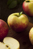 Raw Organic Honeycrisp Apples. Ready to Eat Royalty Free Stock Photos