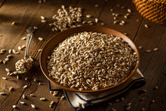 Raw Organic Hulled Sunflower Seeds Stock Image
