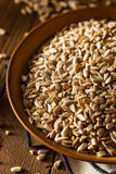 Raw Organic Hulled Sunflower Seeds. In a Bowl Royalty Free Stock Photography