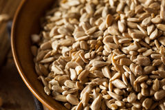 Raw Organic Hulled Sunflower Seeds. In a Bowl Royalty Free Stock Photos