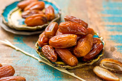 Raw Organic Medjool Dates Ready to Eat Stock Photography