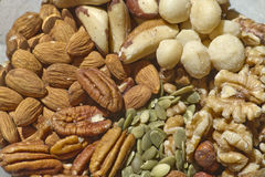 Raw and Organic Mixed Nuts Royalty Free Stock Photography
