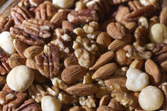 Raw and Organic Nut Mix Royalty Free Stock Photography