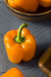 Raw Organic Orange Bell Peppers Stock Image