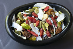 Raw Organic Paleo Trail Mix Stock Images