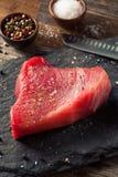 Raw Organic Pink Tuna Steak Stock Image