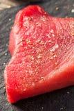 Raw Organic Pink Tuna Steak Royalty Free Stock Photo