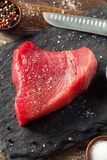 Raw Organic Pink Tuna Steak Royalty Free Stock Photos