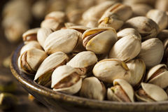 Raw Organic Pistachio Nuts Royalty Free Stock Photography