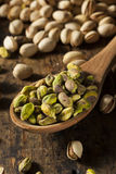 Raw Organic Pistachio Nuts Royalty Free Stock Images