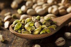Raw Organic Pistachio Nuts Stock Images