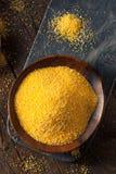 Raw Organic Polenta Corn Meal Stock Image