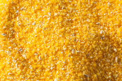 Raw Organic Polenta Corn Meal Stock Photo