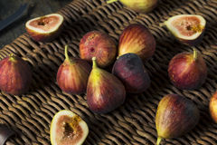 Raw Organic Purple Figs. Ready to Eat Royalty Free Stock Photography