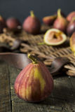 Raw Organic Purple Figs. Ready to Eat Stock Images