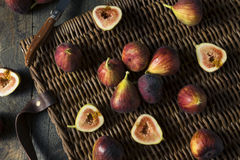Raw Organic Purple Figs. Ready to Eat Royalty Free Stock Images