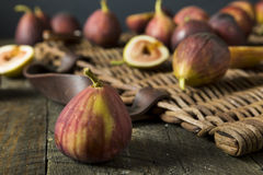 Raw Organic Purple Figs. Ready to Eat Royalty Free Stock Image