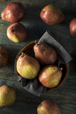 Raw Organic Red Anjou Pears Royalty Free Stock Photos