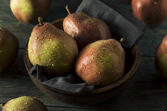 Raw Organic Red Anjou Pears Stock Photo