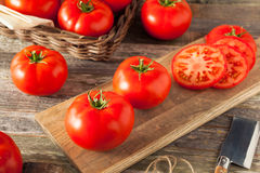 Raw Organic Red Beefsteak Tomatoes Stock Images