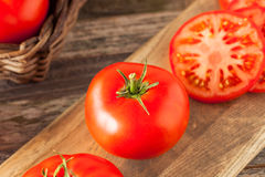 Raw Organic Red Beefsteak Tomatoes Royalty Free Stock Image