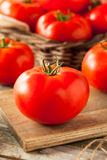 Raw Organic Red Beefsteak Tomatoes Stock Photography