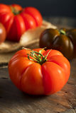 Raw Organic Red and Brown Heirloom Tomatoes Royalty Free Stock Photography
