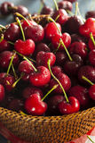 Raw Organic Red Cherries Royalty Free Stock Photo