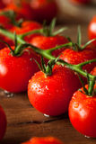 Raw Organic Red Cherry Tomatoes Royalty Free Stock Image
