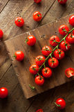 Raw Organic Red Cherry Tomatoes Royalty Free Stock Photography