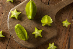 Raw Organic Star Fruit Royalty Free Stock Image