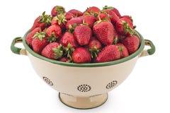 Raw organic strawberries Royalty Free Stock Image