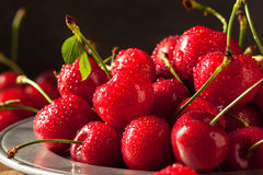 Raw Organic Strawberry Cherries. Ready to Eat Royalty Free Stock Images