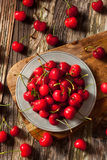 Raw Organic Strawberry Cherries. Ready to Eat Stock Image