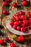 Raw Organic Strawberry Cherries. Ready to Eat Stock Photography