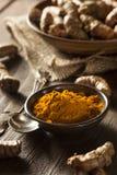 Raw Organic Turmeric Spice Stock Photo
