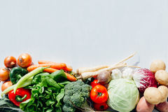 Raw organic vegetables. With blank space Royalty Free Stock Image