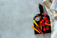 Raw organic vegetables Royalty Free Stock Photos
