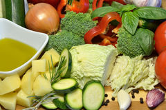 Raw organic vegetables, healthy diet food. Raw organic vegetables, healthy food Royalty Free Stock Images